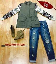 It's a rainy day outside ☔ ☔ ☔  So what better outfit to wear on this chilly day?!?! All items available online at www.smalltowngypsy.com