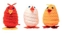 Tipu, ohje: www. Diy And Crafts, Crafts For Kids, Arts And Crafts, Textiles, Easter Crafts, Knitting, 1990, Google, Tejidos
