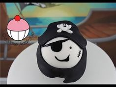 Pirate Cupcakes! Decorate Captain Blackbeard Pirate Cupcakes -- Learn how to make these using our FREE online video tutorials. Visit YouTube channel MyCupcakeAddiction for these and lots more cupcake and cakepop decorating tutorials!