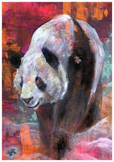 Found Panda Art Print. $10.00, via Etsy.