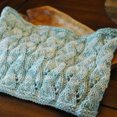 Knitted Falling Water Cowl