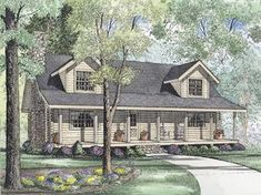 Shadow Ridge Log Cabin Home Southern Acadian Design With Country Accents from houseplansandmore.com