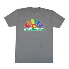 50a4151b10b6ef Colorado Sunset Rainbow Men s T-Shirt. Aksels