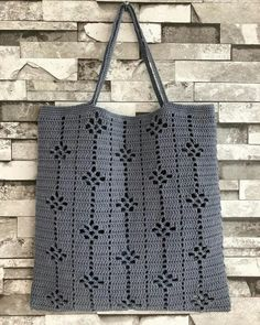 Ideas For Knitting Bag Diy Ganchillo Diy Crochet Cardigan, Débardeurs Au Crochet, Crochet Tote, Crochet Handbags, Crochet Purses, Filet Crochet, Crochet Stitches, Hand Knitting, Knitting Patterns