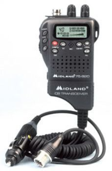 - Midland handlheld mobile CB with adapter- Lightweight handheld CB radio that can be easily converted to a mobile CB- For portable: insert batteries into battery pack and attach flexible antenna- For