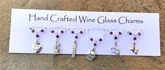 Teacher Gifts - Wine Glass Charms - School - Thank You Gifts - Birthday Gifts Thank You Teacher Gifts, Teacher Christmas Gifts, Wine Glass Charms, School Themes, Wine Gifts, Secret Santa, Birthday Gifts, My Etsy Shop, Charmed