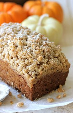Pumpkin Crumbly Bread, mostly interested in the crumb topping part of the recipe, add it to Aunt Barb's pumpkin bread recipe...can't wait to try it!