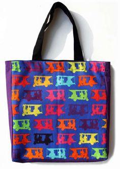 Buy Multicolor Taxi's Tote Bag online