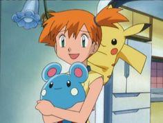 Pikachu thinks misty's hair smells nice Pokemon Sketch, Pokemon Gif, Pokemon People, Ash Pokemon, Pokemon Eevee, Cool Pokemon, Pikachu, Pokemon Kalos, Pokemon Couples