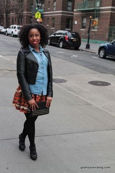 african Street fashion | ... -jacket-clutch-african-print-skirt-street-style-fashion-blogger-8