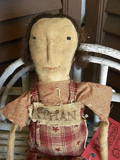 Very Primitive, Early American, Primitive Doll, Rag Doll, Cloth Doll, Old Rag Doll, Old Cloth Doll, Vintage Doll, Antique Doll, Prairie Doll on Etsy