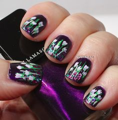 Marias Nail Art and Polish Blog: Baptiste meets a baby dragon - for the lovers of purple!