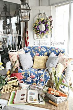 Cottage of the Week: Common Ground - The Cottage Market Cottage Style Decor, Shabby Chic Decor, Vintage Medicine Cabinets, Outdoor Rooms, Outdoor Living, Outdoor Patios, Outdoor Kitchens, Outdoor Decor, Old Wicker