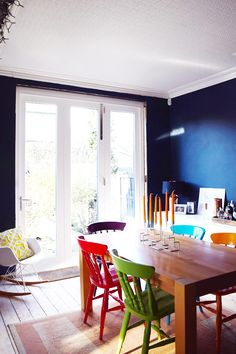Dining Room with Bifold Doors