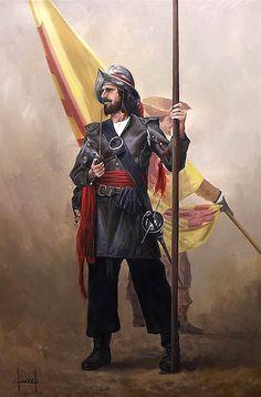 Soldado del Tercio español con pipa                                                                                                                                                                                 Más