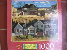 Amazon.com: Charles Wysocki's Americana 1000 Piece Puzzle Collectible ; Cape Village: Toys & Games