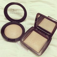 """Possibly dupes for one another? Models Prefer Soft Touch mineral powder in """"Soft Focus"""" and @hourglasscosmetics Ambient Lighting powder in """"Dim Light"""". Love that drugstore brands are branching out a little more these days!"""