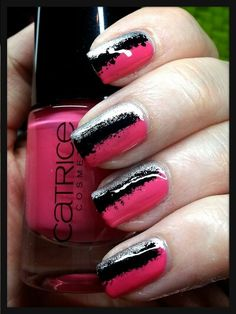 Catrice You Better Think Pink + Essence Icy Princess #kimskienails