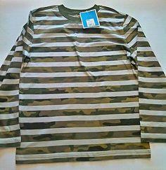 NWT Circo Boys Striped Camo Long Sleeved Tee Size L 12/14