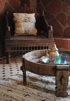 Bohemian Pages: More Boho Style.....I think I would pad the chair, but this is homey to me