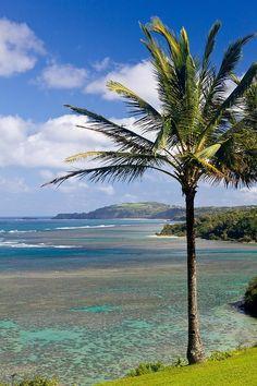 Anini Beach in Kauai, Hawaii