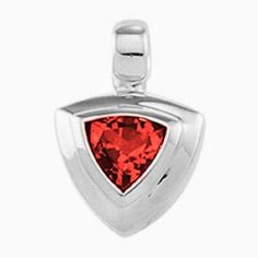 Platinum Trillion Cut Chatham Created Ruby Pendant Gems-is-Me. $1152.99. FREE PRIORITY SHIPPING. This item will be gift wrapped in a beautiful gift bag. In addition, a 'gift message' can be added.