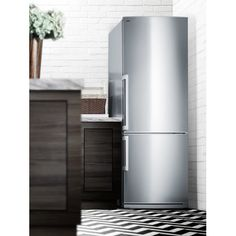 Found it at AllModern - 13.81 Cu. Ft. Bottom Freezer Refrigerator with Large Capacity