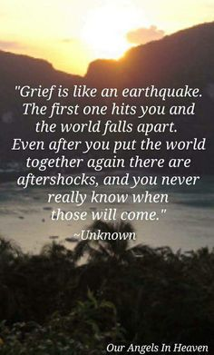 So true and some of those aftershocks can knock you off your feet.