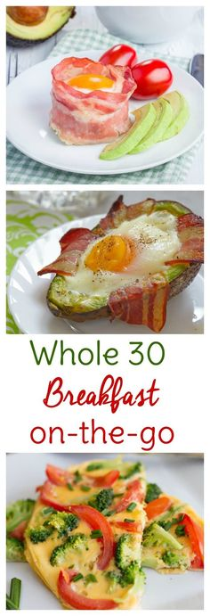 Whole 30 breakfast to go is a convenient way to start your day off on the right track. Make ahead or whip them up and eat on your way to work.