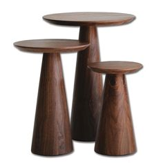 Mobital Occasional-Pcs-Tower-Tall-End-Table-WA Tower Tall End Table in Natural Walnut Pedestal Table, Decor, Contemporary Furniture Stores, Table, End Tables, Furniture, Tall End Tables, Living Room Sets Furniture, Home Decor