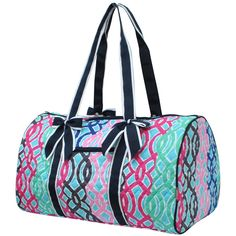 f6e10e3591 Multi-Color Vine Print NGIL Large Quilted Duffle Bag - http   meetyouritem