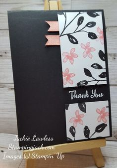 Quick & Easy Split Panel Card made using Stampin Up Petal Palette