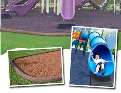 Playground Surfaces: Providing Your Kids With A Safer Play Environment Playground Rubber Mulch, Backyard Playground, Environment, Kids, Safety, Outdoor, Swing Sets, Monkey, Parenting
