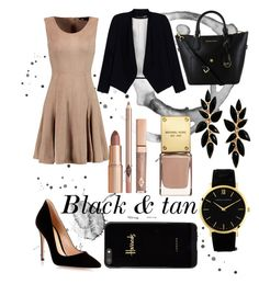 """""""It's all business"""" by corrinekrn ❤ liked on Polyvore featuring Gianvito Rossi, Halston Heritage, Larsson & Jennings, Alice + Olivia and Harrods"""