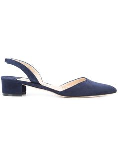 Manolo Blahnik Aspro Suede Block-heel Slingback Pump In Black Navy Wedding Shoes, Navy Shoes, Ankle Boots With Leggings, Manolo Blahnik Hangisi, Low Heel Shoes, Shoes Sandals, Slingback Pump, Pretty Shoes, Pumps