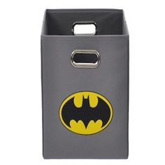 Batman Logo Gray Folding Storage Bin