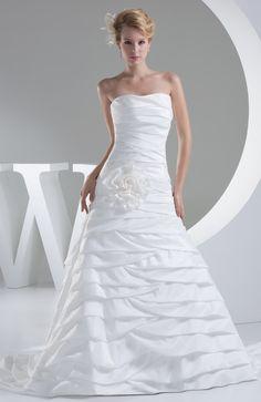 White Modest Hall Sleeveless Zip up Taffeta Flower Bridal Gowns