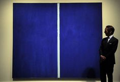 """Onement VI"" Painting by abstract expressionist artist Barnett Newman. This painting was sold for $43.8 million."