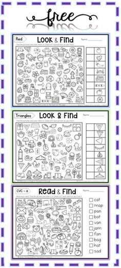 Free Hidden Picture Activities - Mrs. Thompson's Treasures lo9k and ring I Spy
