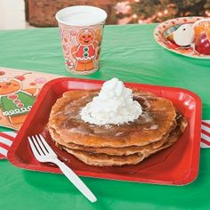 Impress your family with your baking skills and make these delicious gingerbread pancakes for Christmas morning breakfast.