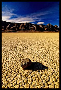 Death Valley moving rocks
