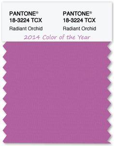 Color Swatch Pantone Color of the Year 2014 Radiant Orchid - TheLandofColor.com #pantone #coloroftheyear #radiantorchid