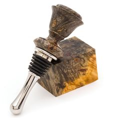 Stabilized Bottle Stopper Blanks Buckeye Burl from Craft Supplies USA --- Enjoy the ease of turning and finishing Turners Choice™ Stabilized Bottle Stopper Blanks on your next bottle stopper project. Wine Bottle Trees, Old Wine Bottles, Recycled Wine Bottles, Wine Bottle Stoppers, Wine Bottle Holders, Wine Bottle Crafts, Clay Pot Crafts, Wood Crafts, Shell Crafts