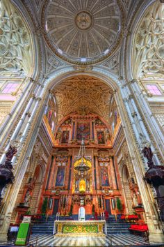 Interior of the Great Mosque or Mezquita in Cordoba, Spain Cadiz, Cordoba Andalucia, Places Around The World, The Places Youll Go, Places To Go, Around The Worlds, Beautiful Buildings, Beautiful Places, Monuments