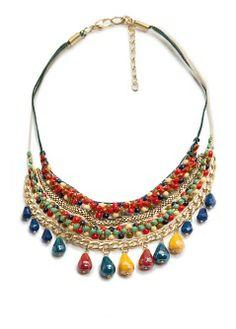MANGO - Accessories - Jewellery - Necklaces and pendants - Bead multicolor necklace