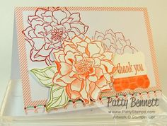 Peaceful Petals stamp set - new from the Stampin' Up! Occasions 2014 catalog coming on Jan. 3rd. by Patty Bennett www.PattyStamps.com