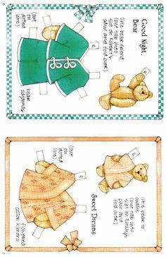 Bears paper dolls 31 » Раскраски распечатать бесплатно. Скачать новые картинки раскраски