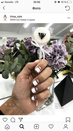 Another black and white manicure Nails Only, Love Nails, How To Do Nails, Pretty Nails, My Nails, Minimalist Nails, White Nails, White Manicure, Black Nails