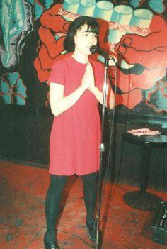 Kathleen Hanna at a zero hour reading at Rebar, 1991.