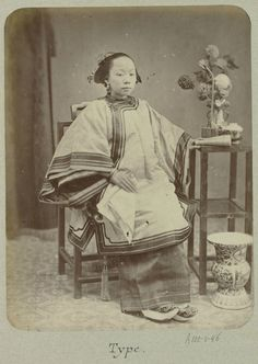 Chinese woman ( reading?), 1888